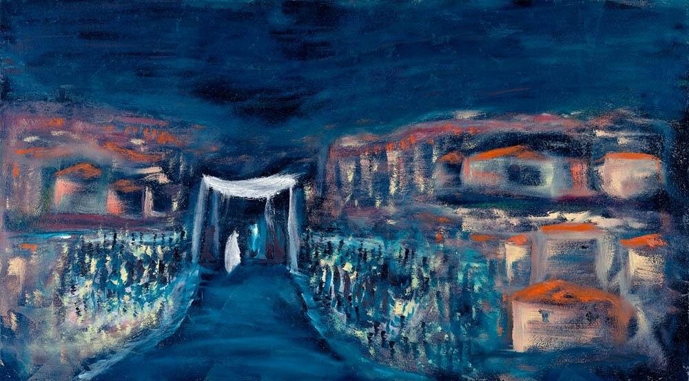 Yitzchak Devor, Fine Art, Israel, Chuppah, Jewish Wedding